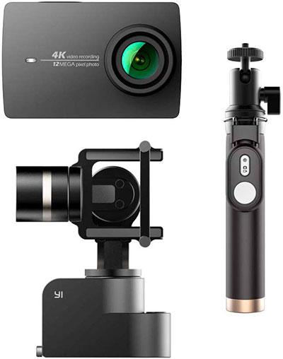 YI 4K Caméra d'action avec Gimbal Stabilisateur